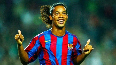 10 Top Rated Barcelona Players Ronaldinho SportsNile