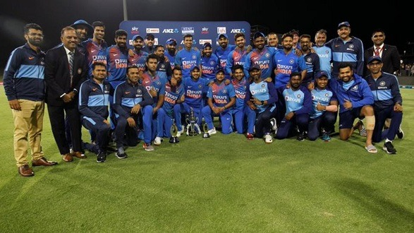 India whitewashed New Zealand in the T20I series!