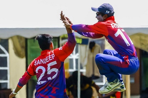 Nepal beat the USA by 8 wickets!