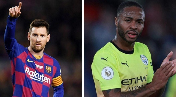 Sterling just wants the shirt of Lionel Messi!