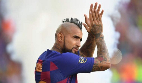 Arturo Vidal feels happy at the Camp Nou!