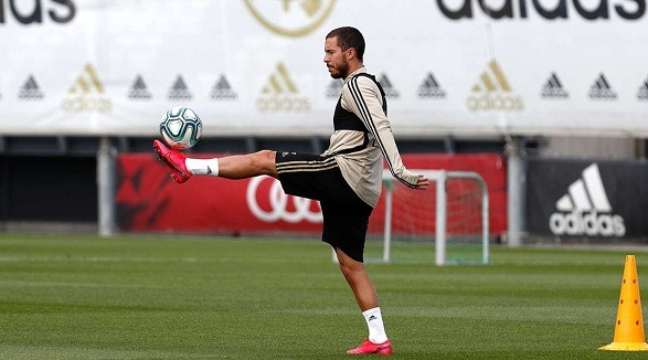 Hazard has resumed the practice with Real Madrid!